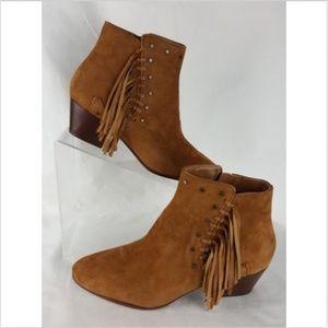 Sam Edelman Size 6.5 Booties NEW Brown Suede Rudie